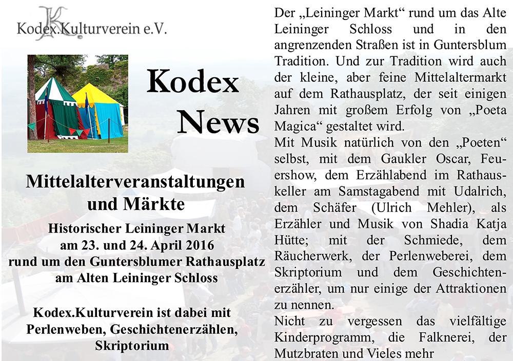 News Guntersblum 2016 Marktvorschau