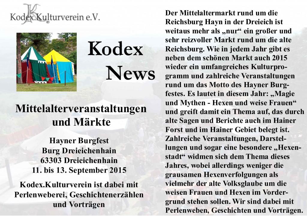 News Dreieichenhain 2015 Marktvorschau