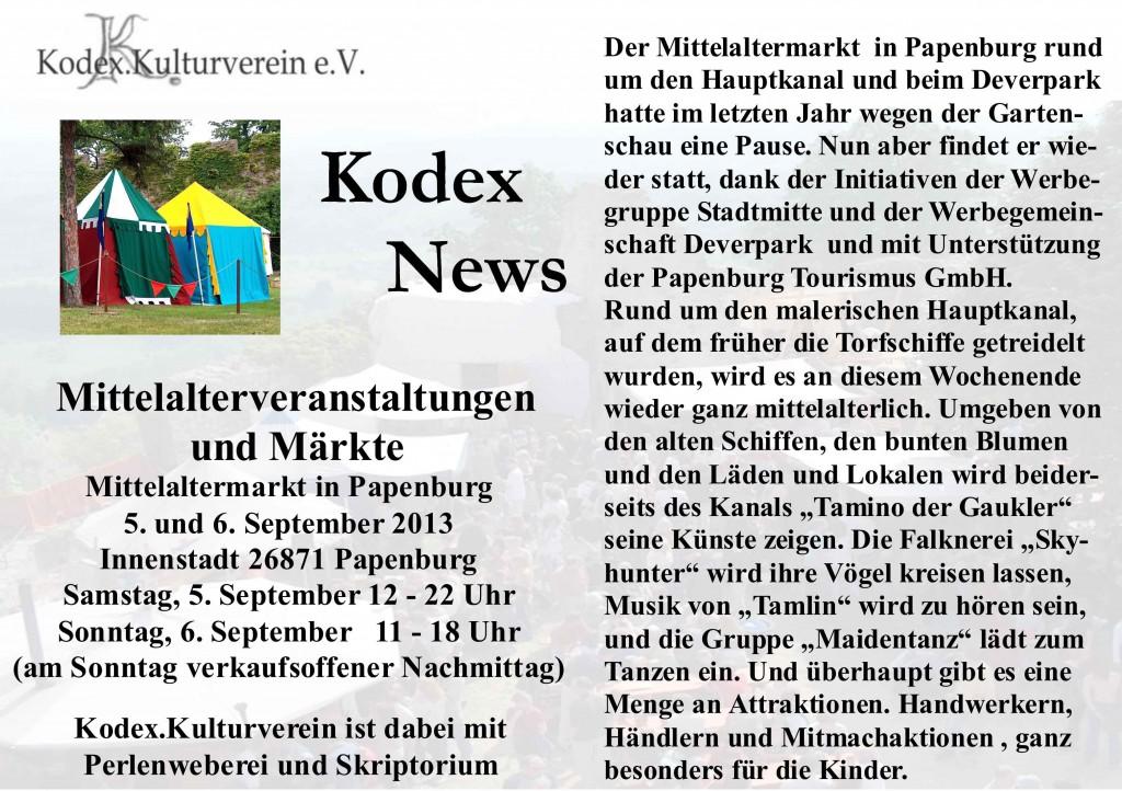 News Papenburg 2015 Marktvorschau