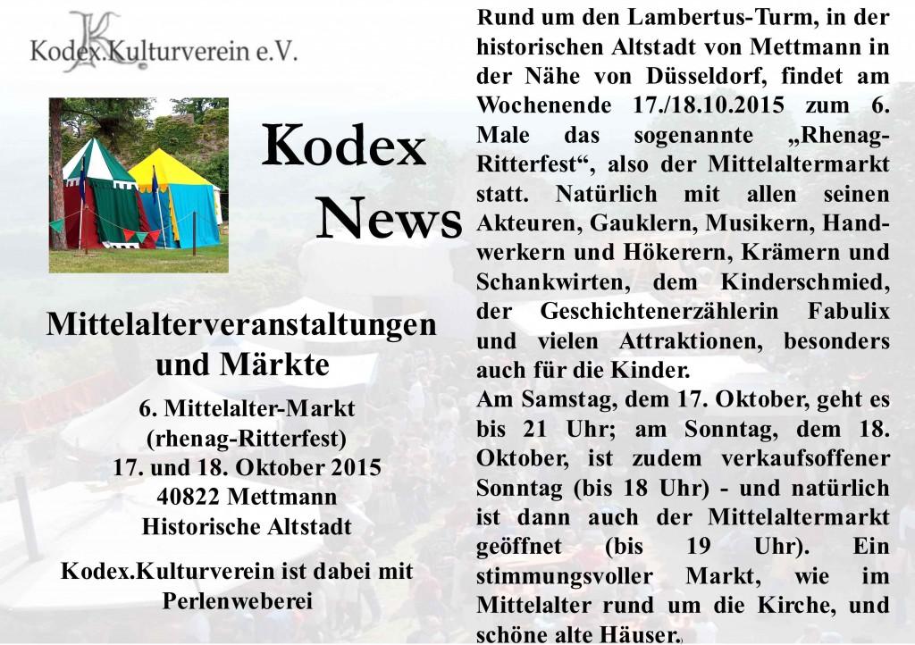 News Mettmann 2015 Marktvorschau
