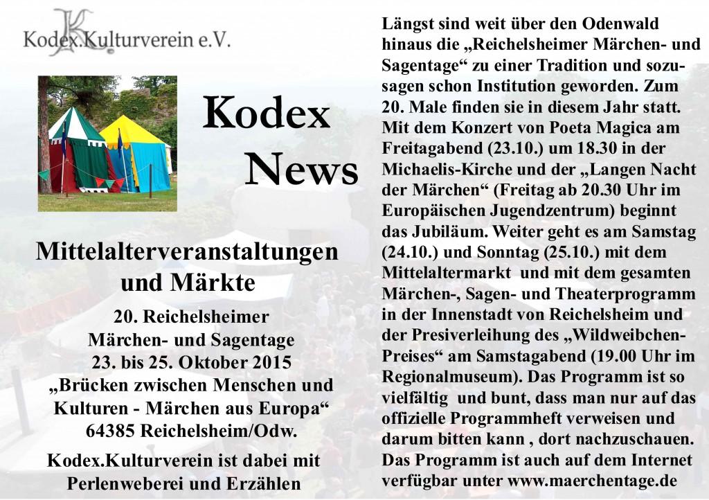 News Reichelsheim 2015 Marktvorschau